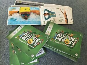 Woolworths Aussie Heros Stickers Olympics and Paralympics stickers