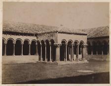 Italia, Verona, Abbazia di San Zeno, chiostro  Vintage Albumen Print Tirage al