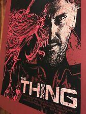 THE THING John Carpenter POSTER QFS CHRIS S/N Screen PRINT Kurt Russell Mondo