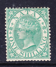 SOUTH AFRICA Natal 1867 SG25 1/- green - wmk Crown CC - mounted mint. Cat £250