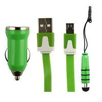 Trio Pack (Micro USB, Cargador de coche, Lápiz óptico mini) de Celkon U Feel 4g