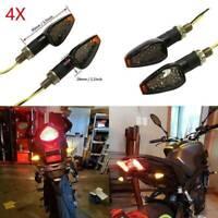 4X LED Motorcycle Motorbike Turn Signal Indicators Lights Lamp Amber Universal