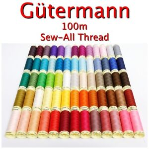 Gütermann Sew-All Thread 100m Reel 100% Polyester Machine + Hand Sewing