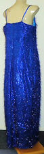 "IDC Blue""Feather""12%MetallicMixPartyMaxi SzLrrp$159NWT"