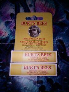 2 X BURT'S BEES BEESWAX LIP BALM  NEW SEALED