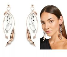 Mimco Brand Festive Drop Silver Earrings + Dust Bag