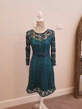 Womens Portmans Dark Green lace dress, size 8