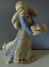 Lenox Nativity First Blessing Fruit Market Maiden Sculpture 1st Qual