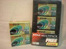 Fuji Film Pro VHS-C TC-30 Blank Premium High Grade Camcorder Tapes, 5 Tapes