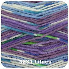 King Cole Zig Zag 4 Ply Knitting Yarn Suitable for Socks Shade 3231 Lilacs