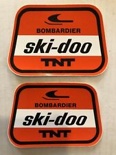 NOS Vintage 2 - Decals /stickers Ski Doo TNT Bombardier  Snowmobiles Winter snow