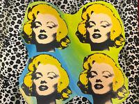 STEVE KAUFMAN POP-ART BILD MARILYN MONROE SERIGRAPHIE MONOGRAMMIERT 96/100