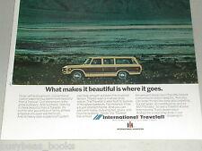 1973 International Harvester TRAVELALL advertisement, IH Travelall on a beach