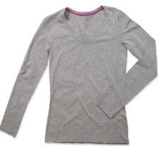 Magliette da donna in cotone con scollo a v, taglia 42