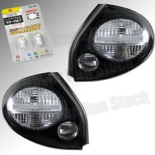 FOR 02-03 NISSAN MAXIMA CLEAR LENS BLACK TAIL LIGHTS +WHITE LICENSE PLATE BULBS