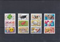 FRANCE 2018 EMOJI LES MESSAGERS EMOTIONS SERIE COMPLETE DE 12 TIMBRES OBLITERES