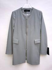 Zara Bleu Clair Redingote Manteau Taille Large Ref 7830 293 Neuf