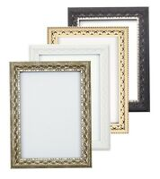 Antique Classic Picture Frame Photo Frame Poster Decor White Black Silver