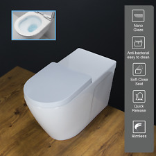 Toilet WC Back To Wall Disabled Extra Height Commercial Soft Closing Seat W265