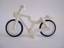 Lego WHITE BICYCLE for Minifigures CITY Town Bike
