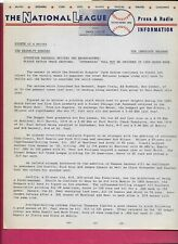 Original 1956 Brooklyn Dodgers Press & Radio Information 6 Pages Very Rare