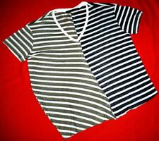 ALL SAINTS ASYMMETRIC STRIPED PATTERN T-SHIRT - M MEDIUM UK 10/12 US 6/8
