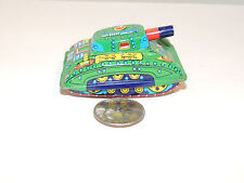 Army Tank Friction Toy Marked Japan (11365)