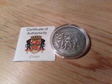 Kongo 1000 Francs 2012 Antique Finish - Baby Löwen - Silber 1oz - Africa Ounce