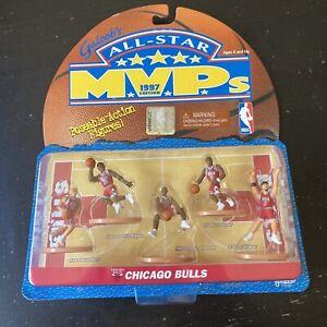 Galoob All Star 1997 MVP's CHICAGO BULLS Mini figure Pippen Rodman Harper Kukoc