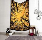 Indian Locust Tree Of Life Tapestry Twin Tie & Dye Wall Hanging Bedspread Throw