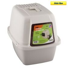 Large Litter Box Cat Cover Pan Kitty Automatic Self Cleaning Table Pet Enclosed