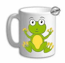 Personalised Frog Mug cup Toad mug cup. Customise with your own text. FOC. IL729