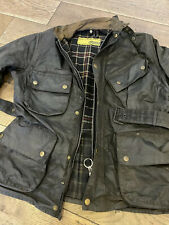 VTG J BARBOUR & SONS  INTERNATIONAL  A7 WAXED COTTON MOTORCYCLE JACKET C40/102cm