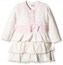 Dirkje Shirt Kleid Mädchen SWEET Stripes Dots  Rüsche Light Pink White Gr 98 NeU