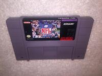 NFL Football (Super Nintendo Entertainment System, 1993) SNES Game Cartridge Exc