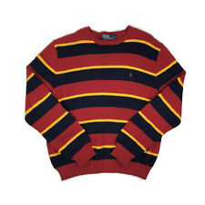Polo Ralph Lauren Colorblock Striped Chunky Pullover Sweater Mens XL