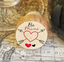 Wine Stopper, Be Mine, Heart Handmade Wood Bottle Stopper, Valentine's Day