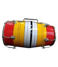 handmade Wooden Multi-Color kids dholak 12 inch mengo wood Dholak dholki drum
