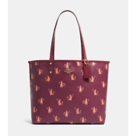 NWT Coach F80232 Reversible City Tote Party Cat IMPCH - Dark Berry $350 Retail