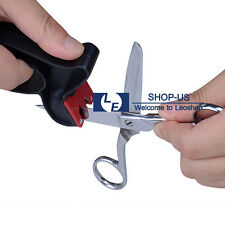 New 2-in-1 Professional Quality Tungsten Carbide Knife Scissors Blade Sharpener