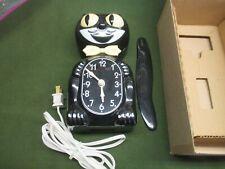 KIT CAT KLOCK D8 BLACK ORIGINAL BOX BLACK ELECTRIC PARTS OR REPAIR COMPLETE.