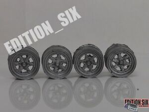 """1:24 Scale 14"""" LONGCHAMP XR4 Wheels set Styleing Modifing parts Diorama model"""
