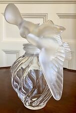 "Large Lalique Glass Display Perfume Bottle For Nina Ricci, L'Air du Temps. 12""."