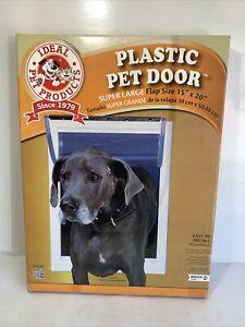 Ideal Pet Door Super Large XXL Original Frame Lockable Pet Door Lockable Flap