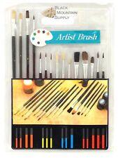 Paint Brush Set - 15 Piece Camel Hair Artist Brush Set for Oil & Acrylic Paints