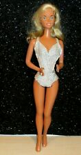 "1976 VTG BARBIE Doll huge 18"" twist n turn  Vinyl face w/Original Swimsuit MINTY"