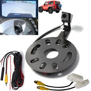 Rear View Backup Camera Kit w/ Spare Tire Bracket For Jeep Wrangler JK 2007-2018