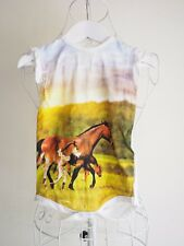 """""""Milky"""" Size: 1. Gorgeous Short Bodysuit with Horse Print. Great! Bargain Price!"""