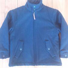 GAP Kids Boys Wool Sherpa Winter Jacket Coat Navy Blue Zip Front Size Medium 7/8