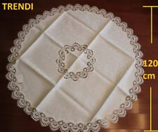 IVORY CREAM Embroider Lace Round Coffee Dinning Tablecloth suit  2-3 seat -120cm